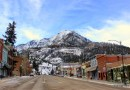 Why Visit Ouray, Colorado this Winter. Downtown Ouray in December. HeidiTown.com