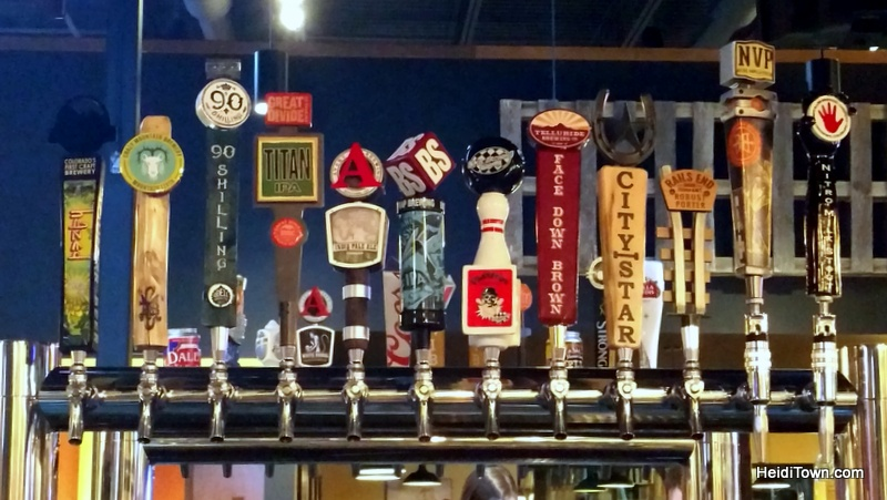 The Wild Game Longmont, Not just for kids. The beer lineup. HeidiTown.com