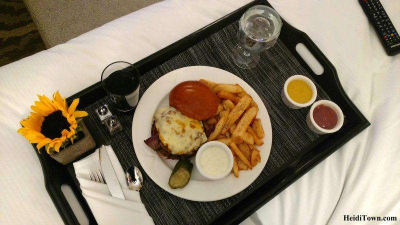 A Staycation at Hilton Denver Inverness in the Denver Tech Center Fireside bison burger