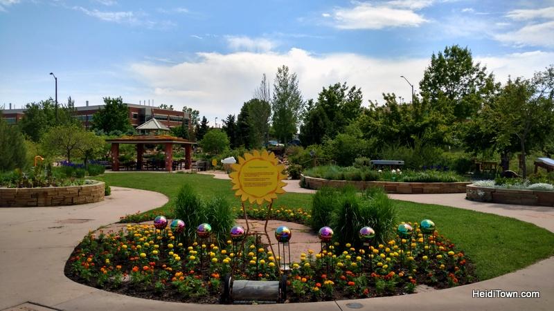 Flower Power in Fort Collins, a Visit to The Gardens on Spring Creek. Children's Garden. HeidiTown.com