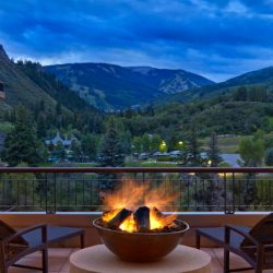 Where to Watch the Solar Eclipse in Colorado - Westin Beaver Creek summer fire pits, credit the hotel