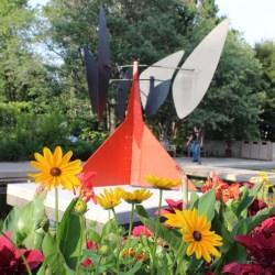 Sculptures by Alexander Calder are on display at the Denver Botanic Gardens through September 24, 2017.