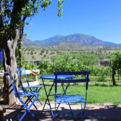 Take Road G to Wine Paradise Sutcliff Winery Blue Chairs