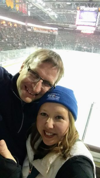 A Night Out With the Colorado Eagles, selfie shot