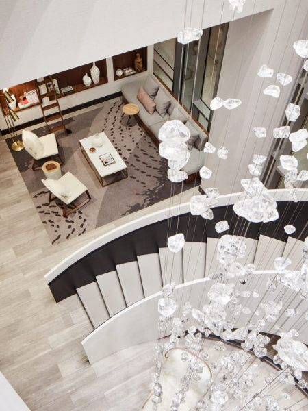Traveling with Mom A Mother's Day Gift She'll Never Forget. Le Meridien Denver stairway
