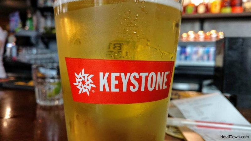 Stay in Keystone, Colorado. Cold beer. HeidiTown.com