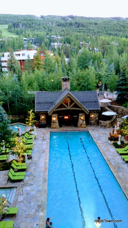 Treat Yourself to Vail, Colorado & the Four Seasons. The pool at Four Seasons in the evening. HeidiTown