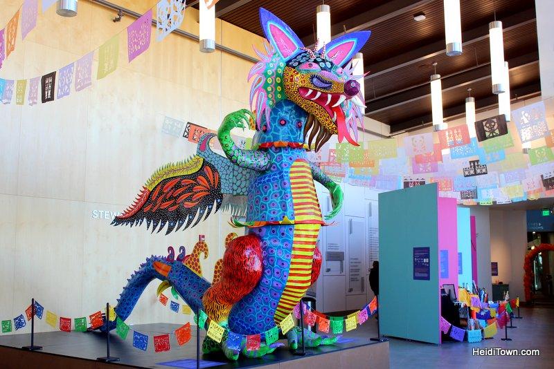 Celebrate Dia de los Muertos in Longmont, Colorado, Featured Festival. sculpture by Oscar Becerra. HeidiTown.com