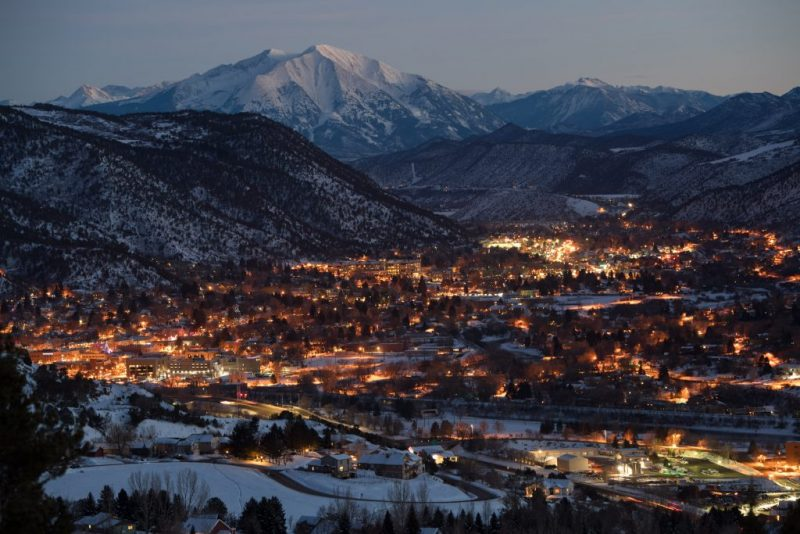 A Colorado Mountain Town for the Holidays. Scenic Glenwood Springs