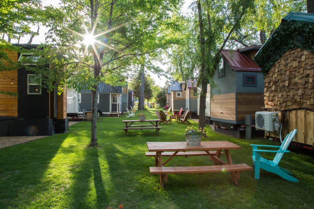 A Little Vacation in a Tiny Home in Lyons, Colorado, Outside at WeeCasa, courtesy photo