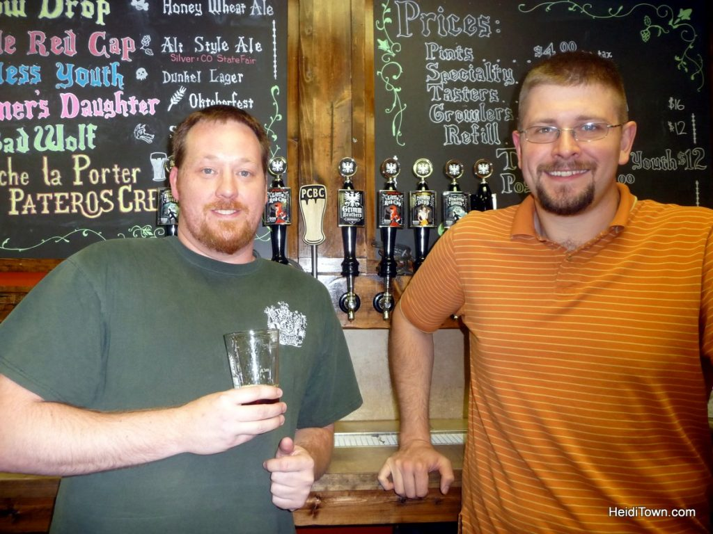 Aaron Heaton & Don Chapman, owners of Grimm Brothers Brewhouse. Taken on 10.12.10 for the Berthoud Weekly Surveyor. Taproom. Photo by Heidi Kerr-Schlaefer.