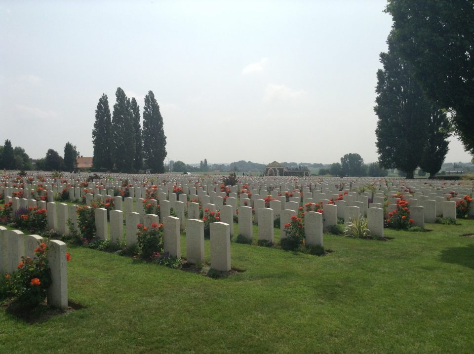 Tuesday 12th June – reflections on Tyne Cot