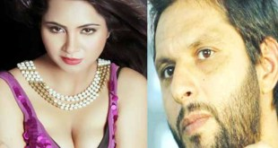 Popular Indian model-actress Arshi Khan admits sex relations dating with Pakistani cricketer Shahid Afridi 3