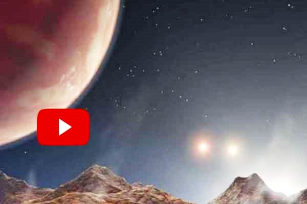 Astronomers discovered giant planet system contains three shining suns.
