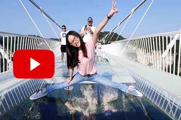 Amazing glass-bottomed longest bridge officially unveiled opens for tourists and public.
