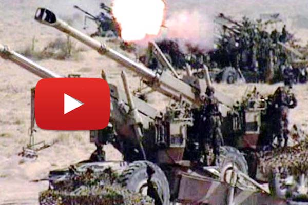 Government officials confirmed Indian army moves heavy artillery guns along the LoC.