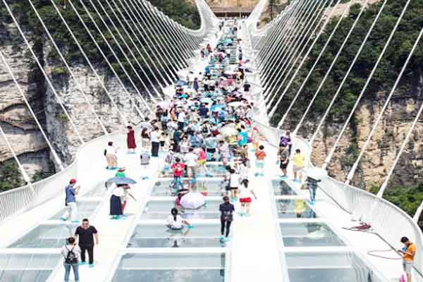 Record-breaking structure hanging closed opened for public a week ago.