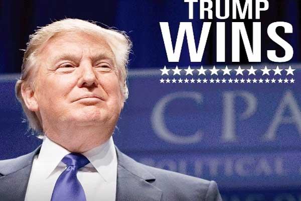Donald Trump beats Hillary Clinton; become 45th president.