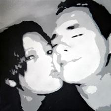 Stencil portret van uw foto