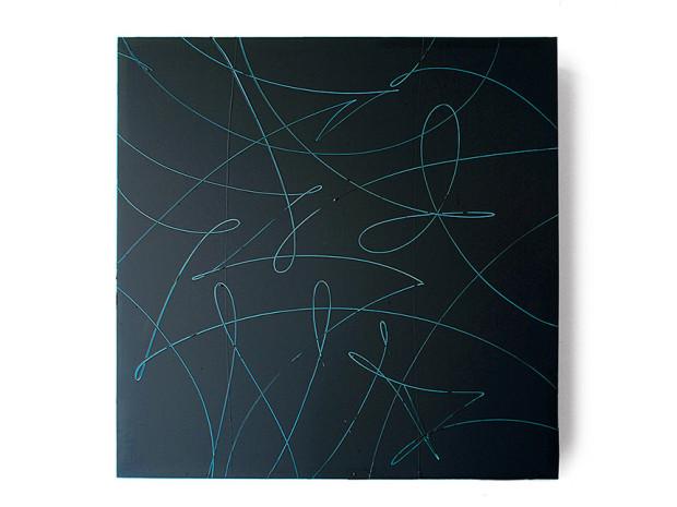 HZ, o.T., 2008, Acryl auf MDF, 139 x 139 cm