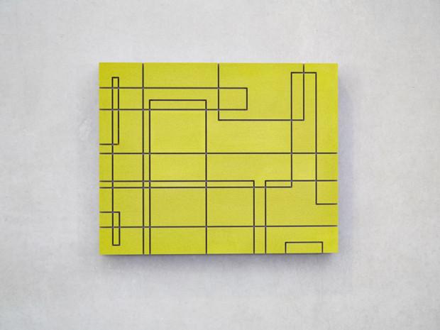 HZ, o.T., Triptychon, 2013, Beton, gefräst, 38 x 48 cm