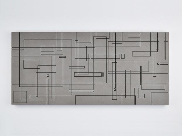 HZ, o.T., 2013, Beton, gefräst, 67 x 145 cm