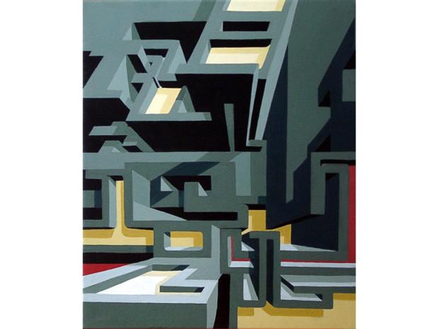 """Rocket"",  2003 in Hamburg acrylics on canvas  Size: 60 x 40"