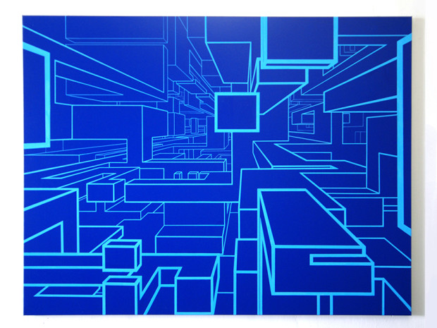 HZ, o.T., Acryl auf Leinwand, 130 x 170 cm, 2012