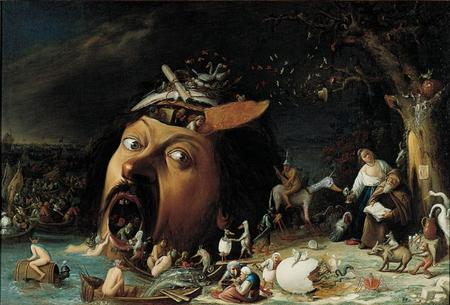 Joos van Craesbeecks Tor zur Hölle; um 1650