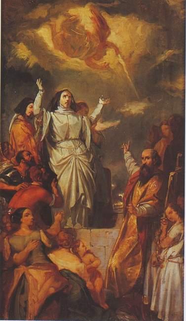 Eugène Devéria (1805 - 1865): Himmelfahrt der heiligen Geneviève, Musée Carnavalet in Paris
