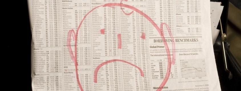Zeitung, Bad News, Schlechte Nachrichten, Börsenkurse
