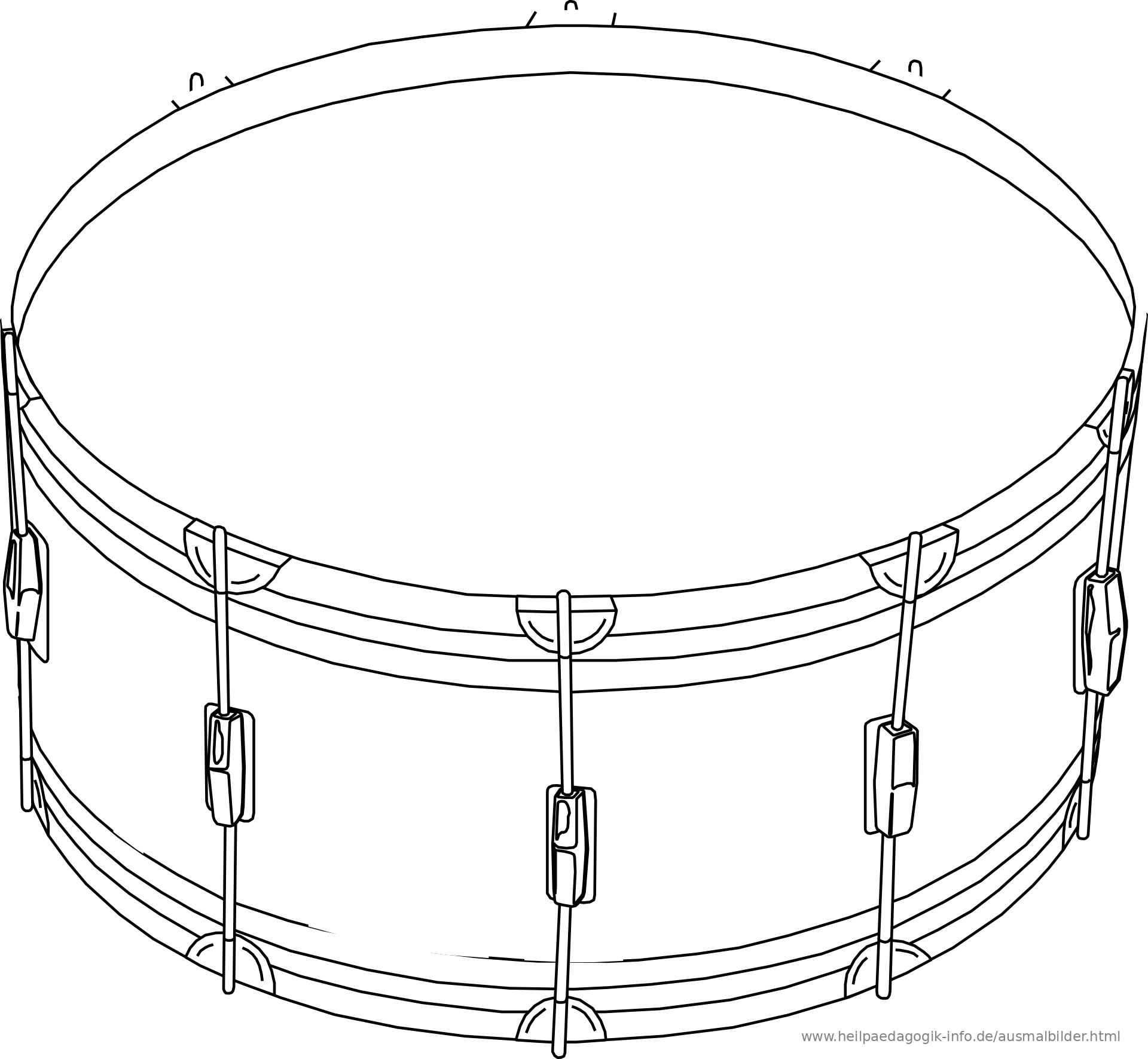 Ausmalbilder Musikinstrumente