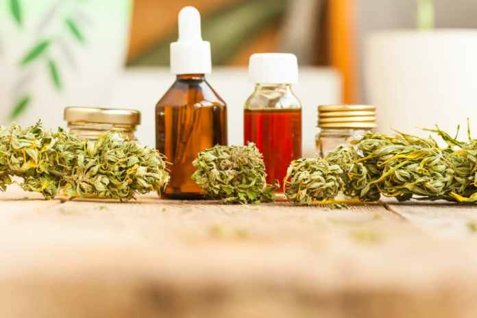 A selection of medicinal cannabis products.