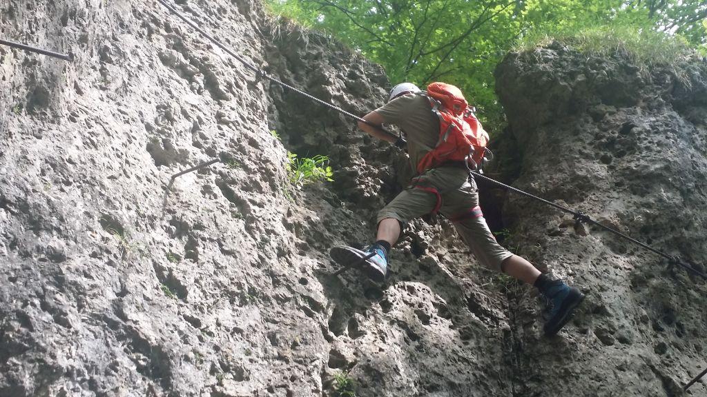 Klettersteig Höhenglücksteig : Kletterkurs schnuppertag am höhenglücksteig u minimulis