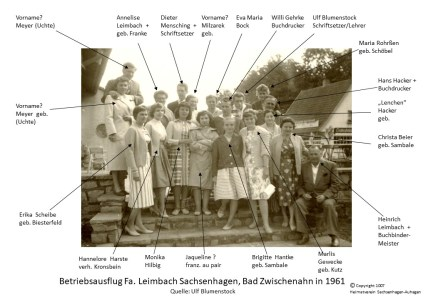 1007 1961 Betriebsausflug Fa. Leimbach