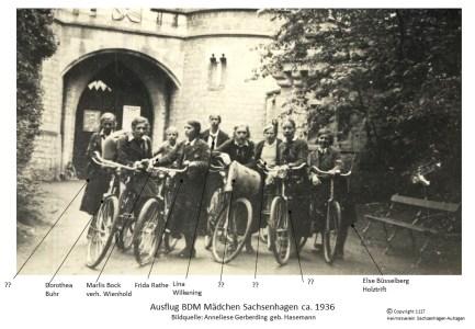 1117 1936 BDM Mädchen Sachsenhagen
