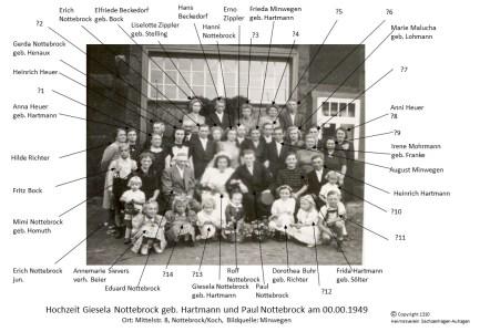 1310 1949 Hochzeit Paul Nottebrock