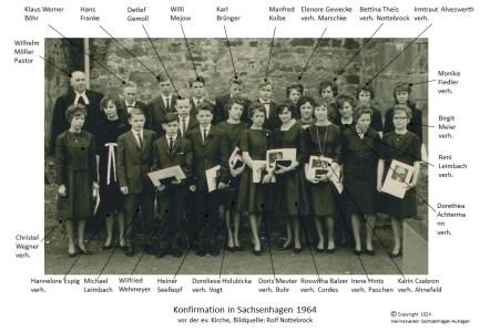 1524 1964 Konfirm Sachsenhagen