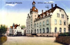 Rathaus Einsiedel Lithografie