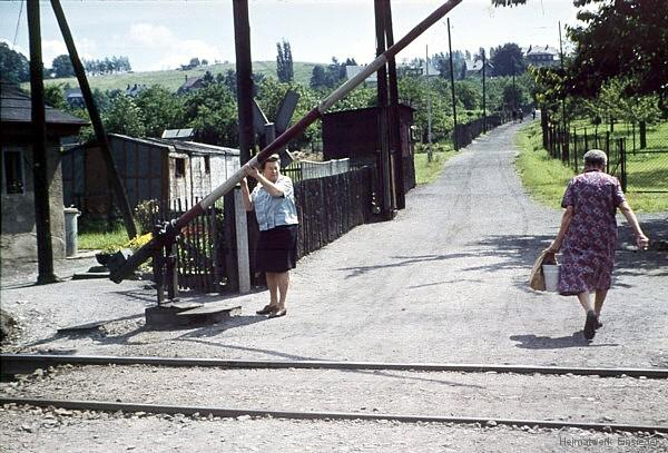 Schrankenposten 10 in Einsiedel Anfang der 1970er Jahre