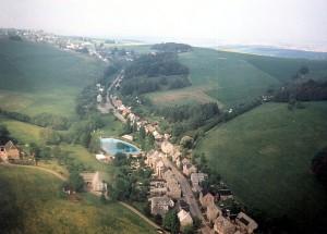 Luftbild Berbisdorfer Straße Mitte der 1990er Jahre