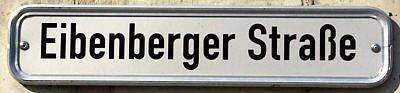 Schild Eibenberger Straße