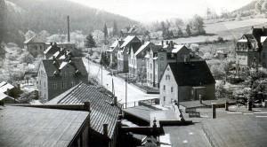 Brauhausstraße Einsiedel in den 1950er Jahren