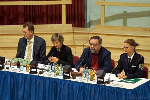 Podium Bürgerversammlung