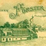 Fotoatelier Hermann Förster, Ludwig Roux, Ingeburg Löffler. Weiterhin Farbenhandlung Ernst Preißler.