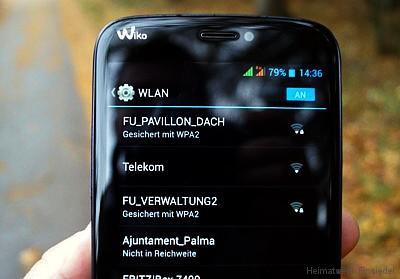 WLAN-Empfang aus der F+U