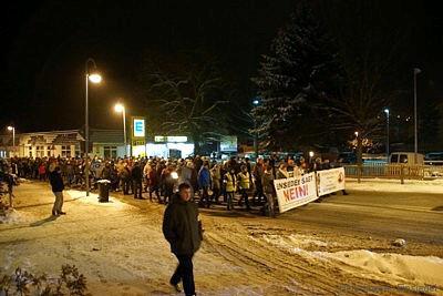 Schweigemarsch in Einsiedel 20.01.2016