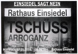 Schweigemarsch 27.01.2016 Aushang
