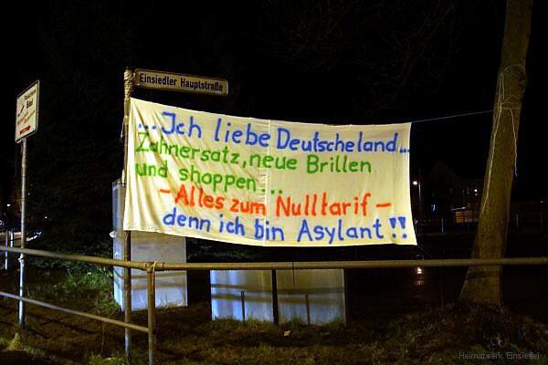 Banner in Einsiedel 02.03.2016