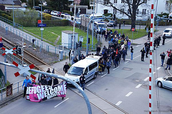 Chemnitz Nazifrei demonstriert in Einsiedel